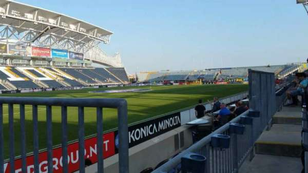 Talen Energy Stadium, section: 112, row: D, seat: 8