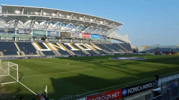Talen Energy Stadium, section: 113, row: J, seat: 1