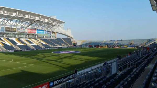 Talen Energy Stadium, section: 113, row: P, seat: 1