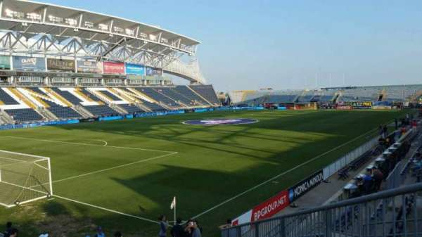 Talen Energy Stadium, section: 113, row: P, seat: 17
