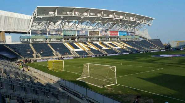 Talen Energy Stadium, section: 114, row: L, seat: 1