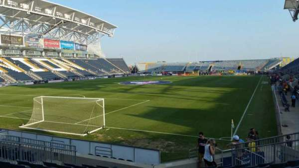 Talen Energy Stadium, section: 114, row: L, seat: 11