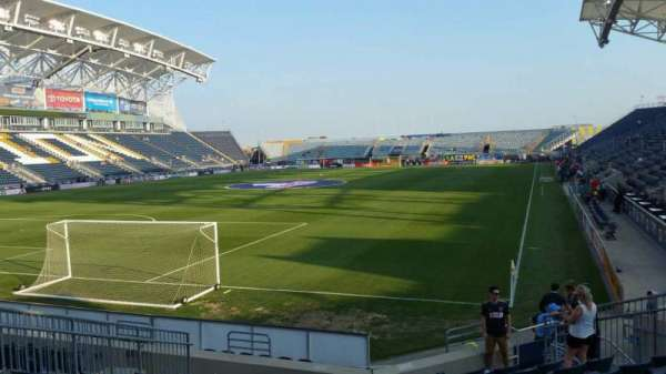 Talen Energy Stadium, section: 114, row: L, seat: 14