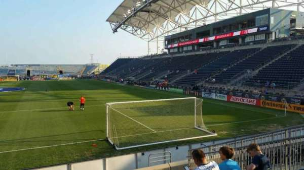 Talen Energy Stadium, section: 116, row: K, seat: 11