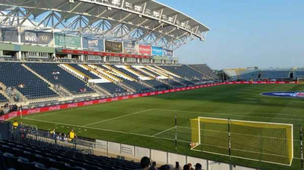 Talen Energy Stadium, section: 117, row: K, seat: 1