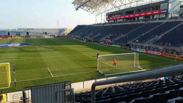 Talen Energy Stadium, section: 117, row: Q, seat: 1