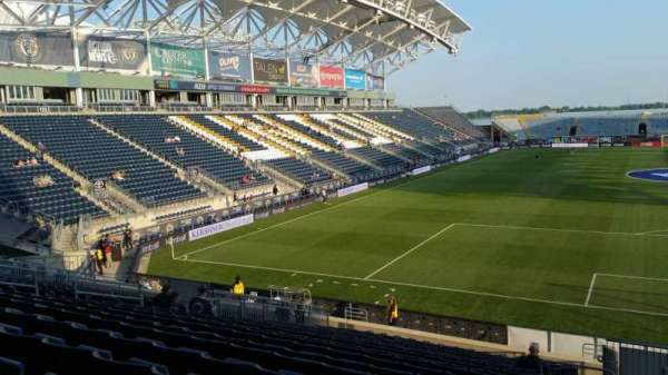 Talen Energy Stadium, section: 118, row: W, seat: 1