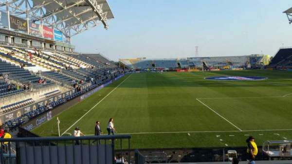 Talen Energy Stadium, section: 119, row: M, seat: 20