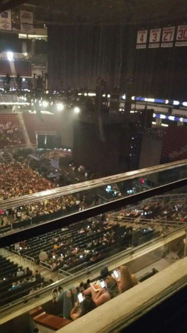 Prudential Center, section: 111, row: 1, seat: 3