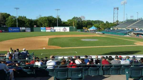 New Britain Stadium, section: 213, row: A, seat: 1