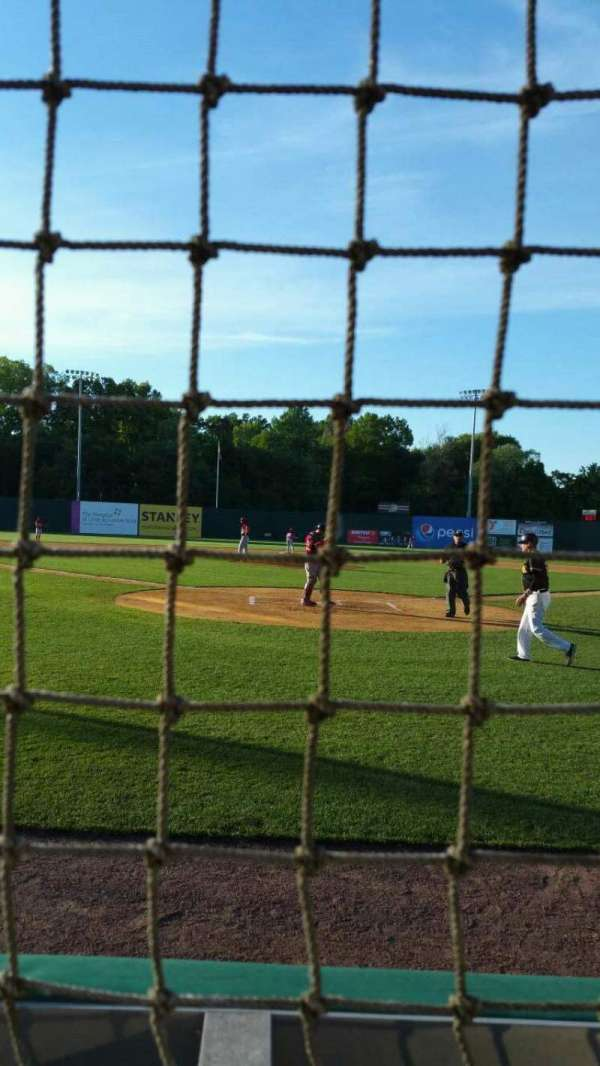 New Britain Stadium, section: 110, row: A, seat: 2