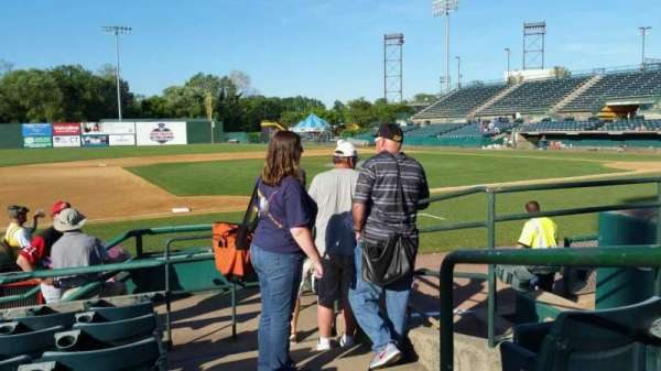 New Britain Stadium, section: 116, row: F, seat: 1