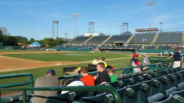 New Britain Stadium, section: 117, row: D, seat: 1