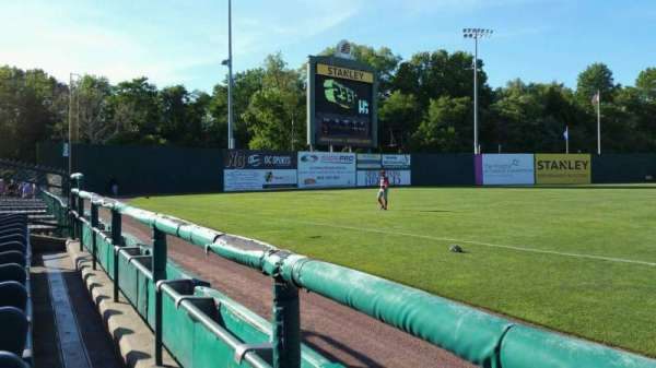New Britain Stadium, section: 118, row: A, seat: 1