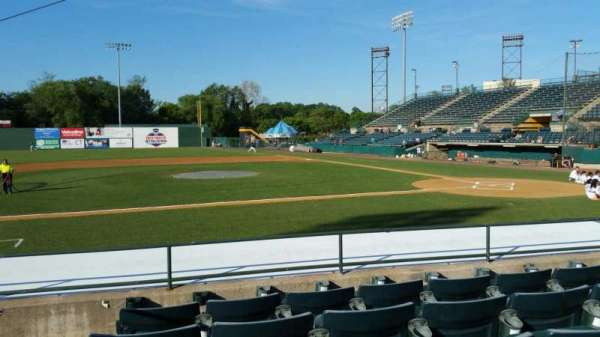 New Britain Stadium, section: 114, row: H, seat: 18