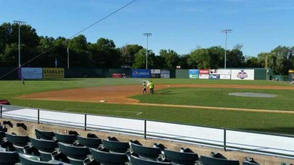 New Britain Stadium, section: 114, row: H, seat: 11