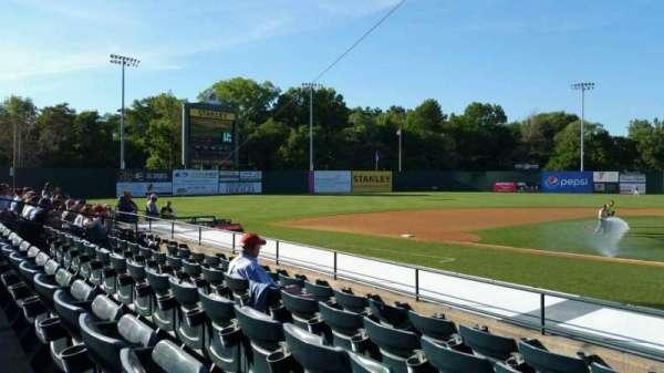 New Britain Stadium, section: 114, row: H, seat: 1