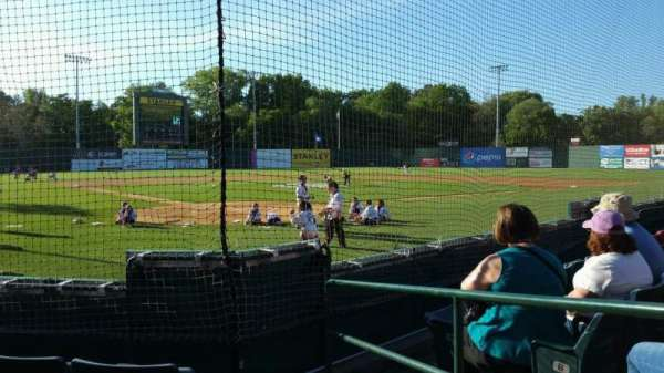 New Britain Stadium, section: 109, row: D, seat: 1