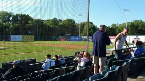 New Britain Stadium, section: 107, row: F, seat: 8