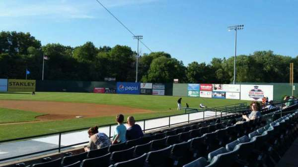New Britain Stadium, section: 105, row: H, seat: 18