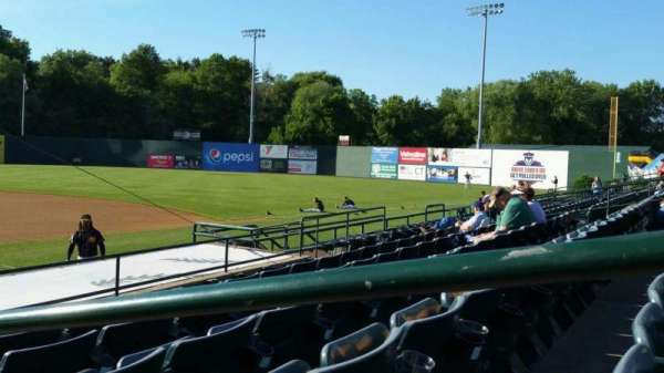 New Britain Stadium, section: 105, row: H, seat: 1