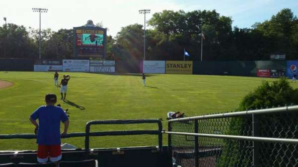 New Britain Stadium, section: 101, row: F, seat: 1