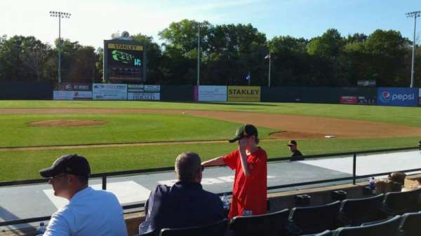 New Britain Stadium, section: 105, row: G, seat: 18