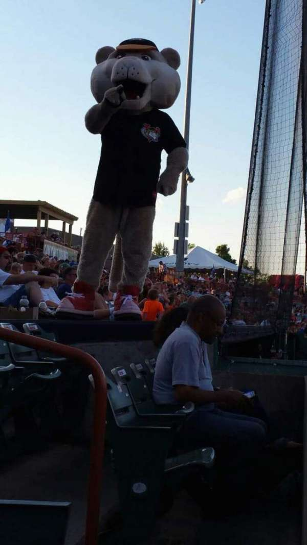 Joseph L. Bruno Stadium, section: 110, row: A, seat: 15