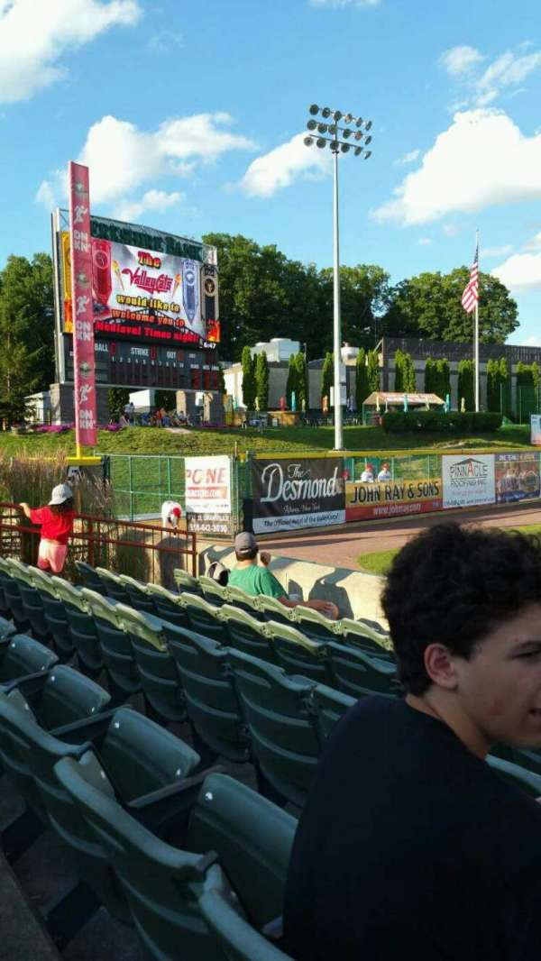 Joseph L. Bruno Stadium, section: 350, row: E, seat: 1