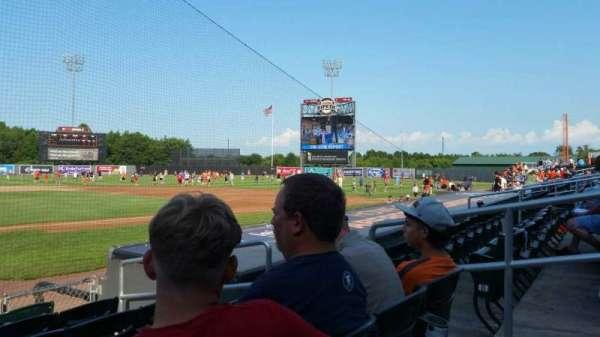 Ripken Stadium, section: 107, row: F, seat: 6