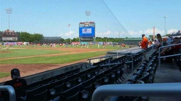 Ripken Stadium, section: 103, row: E, seat: 1