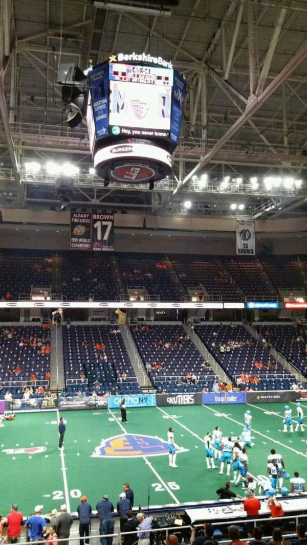 Times Union Center, section: 106, row: Q, seat: 1