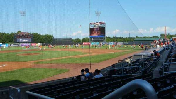 Ripken Stadium, section: 101, row: H, seat: 1