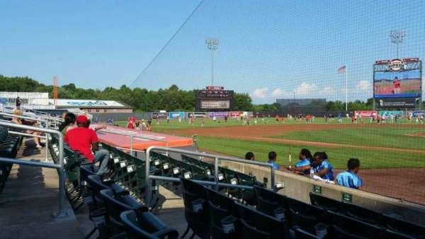 Ripken Stadium, section: 106, row: E, seat: 1