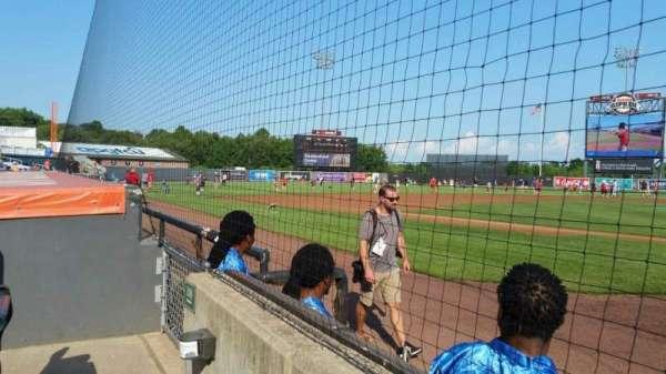 Ripken Stadium, section: 108, row: A, seat: 1