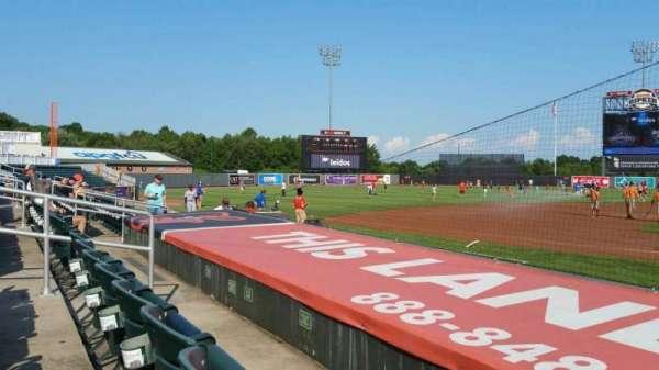 Ripken Stadium, section: 112, row: B, seat: 1