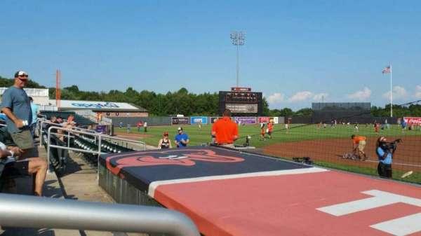 Ripken Stadium, section: 112, row: A, seat: 10