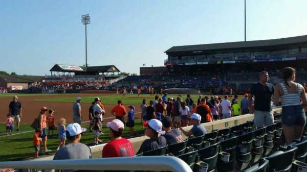 Ripken Stadium, section: 122, row: D, seat: 1