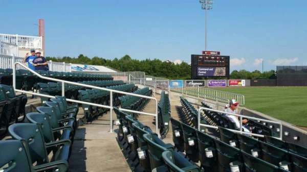 Ripken Stadium, section: 124, row: F, seat: 1