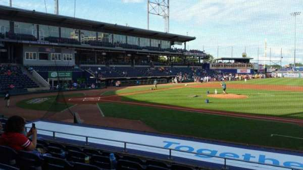 Dunkin' Donuts Park, section: 107, row: L, seat: 1