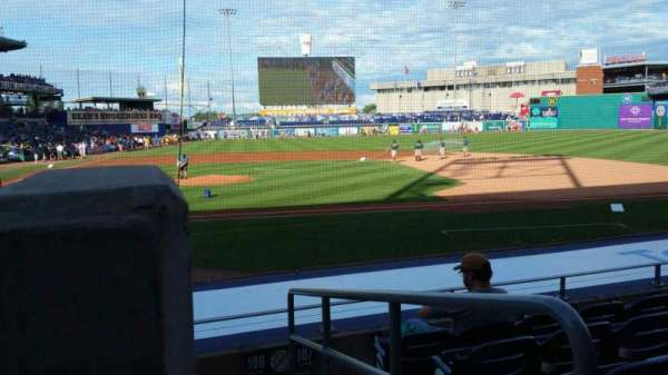 Dunkin' Donuts Park, section: 108, row: K, seat: 1