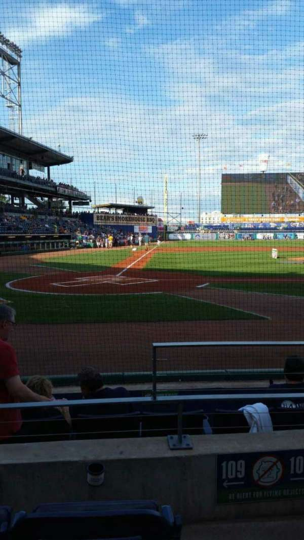 Dunkin' Donuts Park, section: 109, row: D, seat: 1