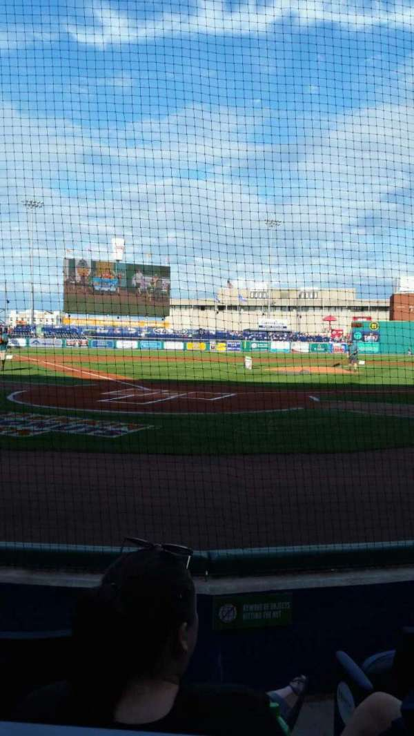 Dunkin' Donuts Park, section: 110, row: B, seat: 1