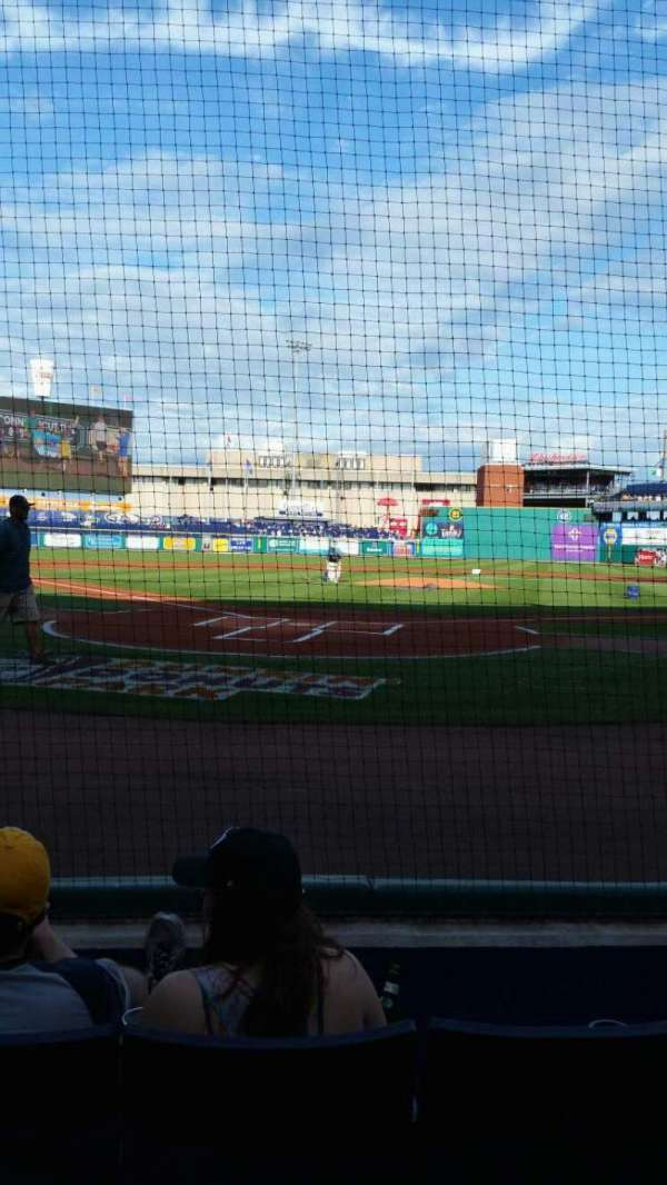Dunkin' Donuts Park, section: 110, row: B, seat: 7