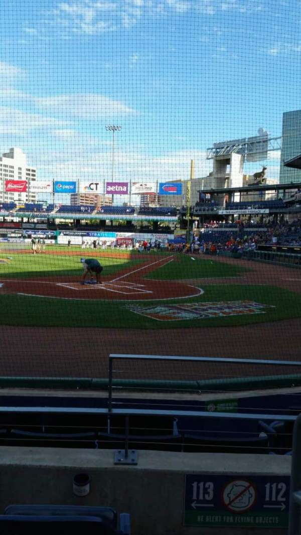 Dunkin' Donuts Park, section: 113, row: D, seat: 1