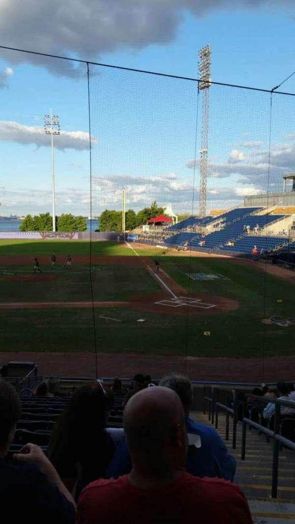 Richmond County Bank Ballpark, section: 7, row: R, seat: 1