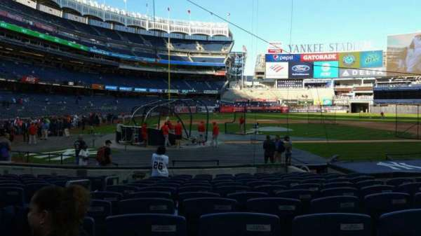 Yankee Stadium, section: 117B, row: 1, seat: 10