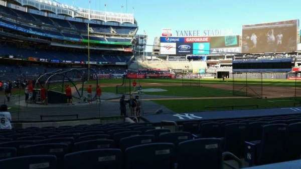 Yankee Stadium, section: 117B, row: 1, seat: 5