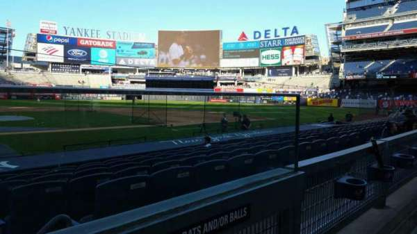 Yankee Stadium, section: 117B, row: 1, seat: 1