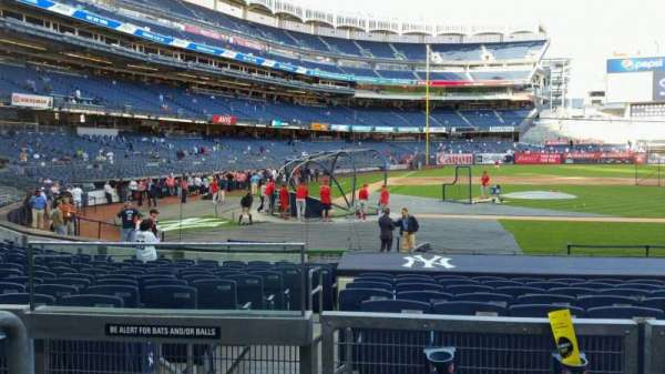 Yankee Stadium, section: 117A, row: 3, seat: 16